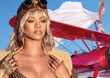 Rihanna Channels Amelia Earhart for Harpers BAZAAR 150th Anniversary Issue