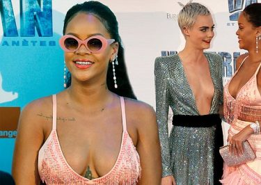 Rihanna is a Parrot at 'Valerian' Paris Premiere