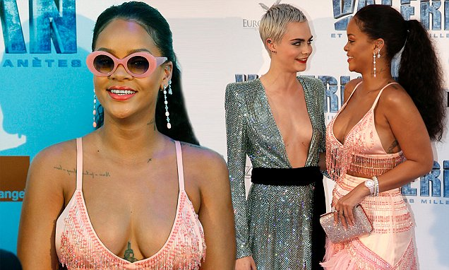 Rihanna is a Parrot at 'Valerian' Paris Premiere image