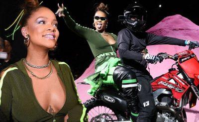 RIHANNA Rides a Dirtbike for Closing of Fenty x PUMA Show
