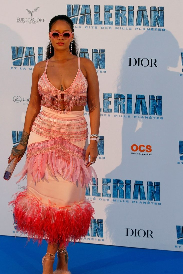 Rihanna is a Parrot at 'Valerian' Paris Premiere image