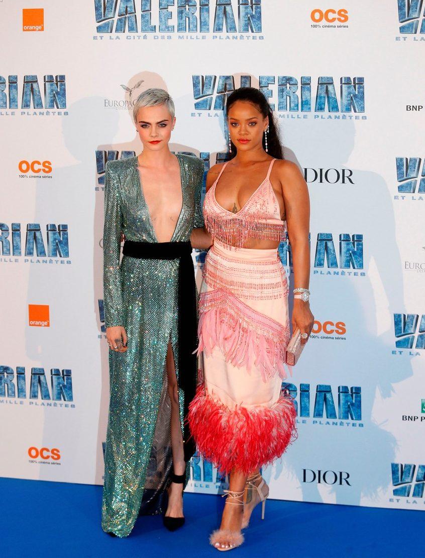 Rihanna is a Parrot at'Valerian' Paris Premiere