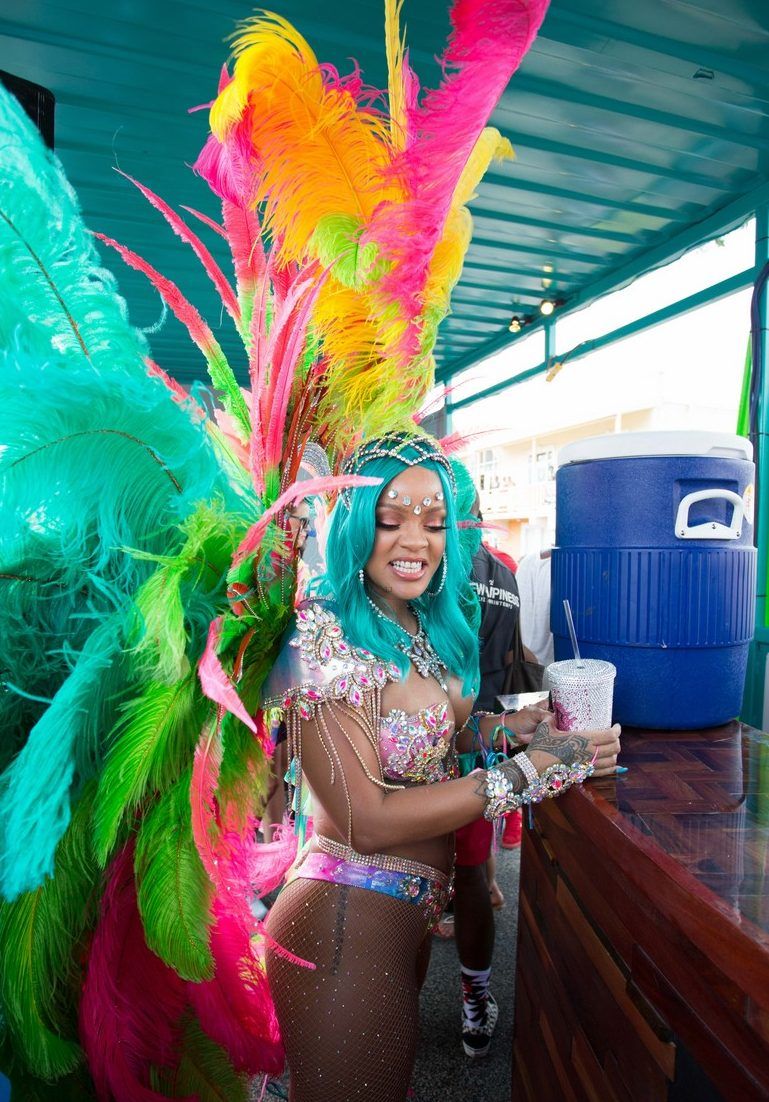 Rihanna Brings Colourful DRAMA to Barbados Crop-Over Festival! image
