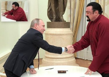 HERE YOU GO: Vladimir Putin Personally Gives Steven Seagal A RUSSIAN PASSPORT!