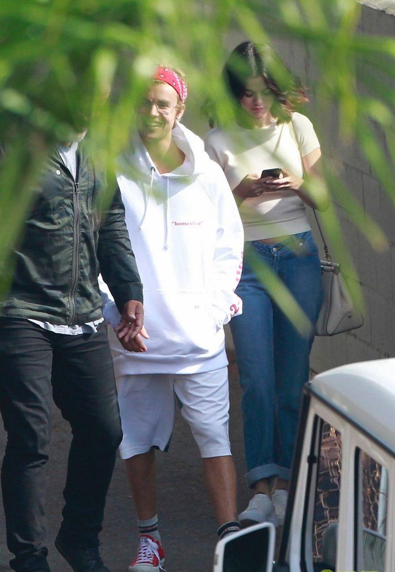 SELENA GOMEZ & Justin Bieber Leave CHURCH to Grab Food image