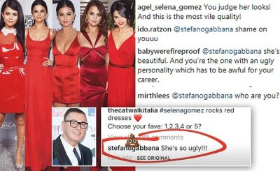 """Stylists Refusing to Use Dolce and Gabbana After They Called SELENA GOMEZ """"Ugly"""""""