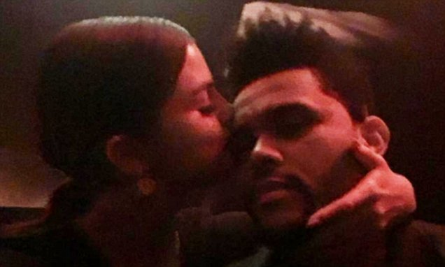 Selena Gomez and The WEEKND Get Cozy at a Birthday Party image