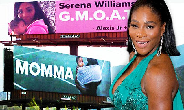 Serena Williams' Husband Puts Up Billboards All Over LOS ANGELES About Her! image