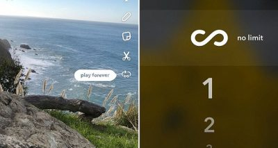 SNAPCHAT Introduces New Features: Looping Video & 'Infinity' Snaps