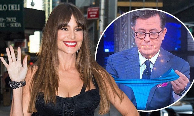 Sofia Vergara Talks About New PANTY Business On'Late Show'