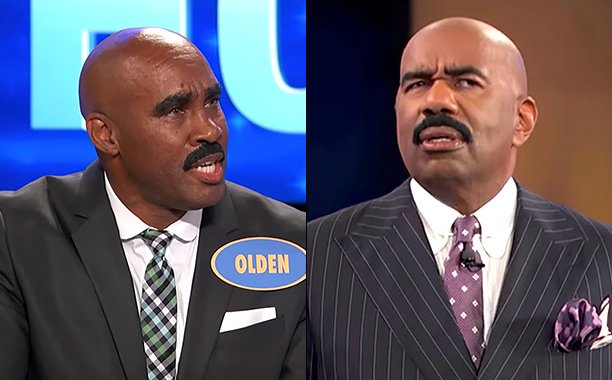 Steve Harvey Meets His Doppleganger on 'Family Feud' image