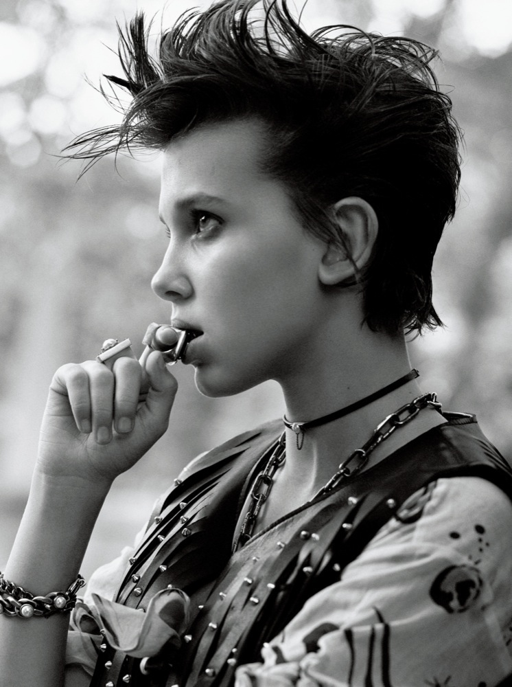 STRANGER THINGS Millie Bobbie Brown Interview Magazine Cover image