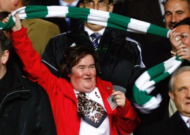 Susan Boyle Almost Blown by Winds During RARE Public Appearance