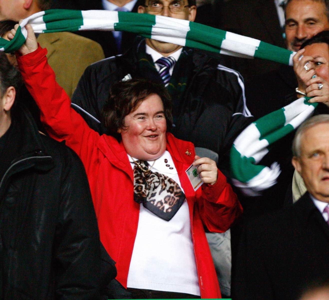 Susan Boyle Almost Blown by Winds During RARE Public Appearance image