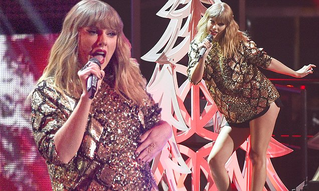 Taylor Swift Performs 'End Game' at JINGLE BALL image