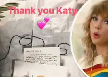 FEUD OVER: KATY PERRY Sends Taylor Swift a Real OLIVE BRANCH!