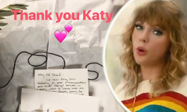 FEUD OVER: KATY PERRY Sends Taylor Swift a Real OLIVE BRANCH! image