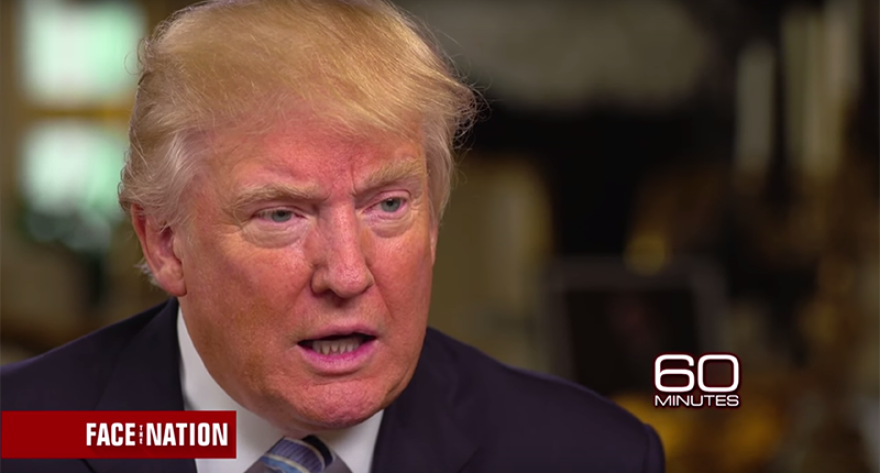 "OMG: Donald Trump Calls Hillary Clinton ""Very Strong & Very Smart"" in 60 Minutes Interview image"