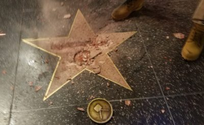 Donald Trump's Star on Hollywood Walk of Fame DESTROYED!