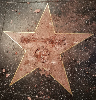 Donald Trump's Star on Hollywood Walk of Fame DESTROYED! image