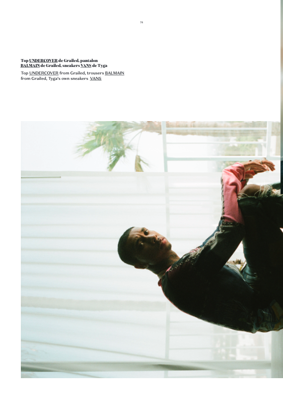 Tyga Poses For DULL Magazine, Despite Facing Barrage of Financial Issues image