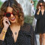 Vanessa Hudgens Suffers Wardrobe Malfunction Whilst Grabbing Iced Coffee image