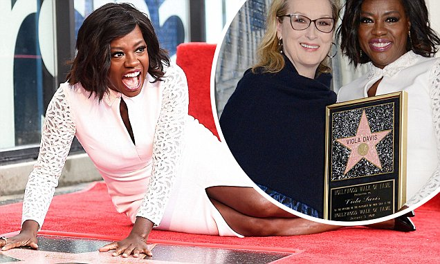 Meryl Streep Presents Viola Davis With Star on HOLLYWOOD WALK OF FAME!
