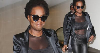 Viola Davis Shows Off Hot Body at the Airport!