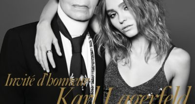 DOUBLE FASHION: Karl Lagerfeld & Lilly-Rose Depp Cover December/January FRENCH VOGUE