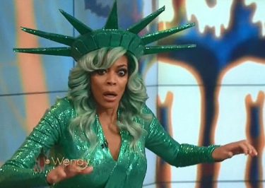 FALL OF LIBERTY: Wendy Williams FAINTS While Dressed as Statue of Liberty!