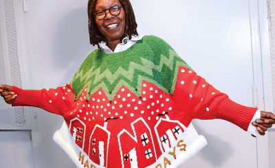 Designer WHOOP: Whoopi Goldberg Sells Ugly Sweaters at Hudson's Bay and Lord & Taylor
