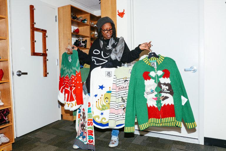 Whoopi Goldberg Sells Ugly Sweaters at Hudson's Bay and Lord & Taylor