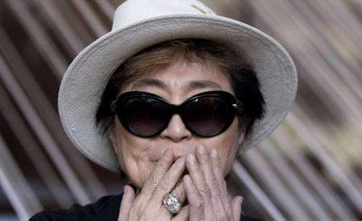 Yoko Ono Screams For Trump!