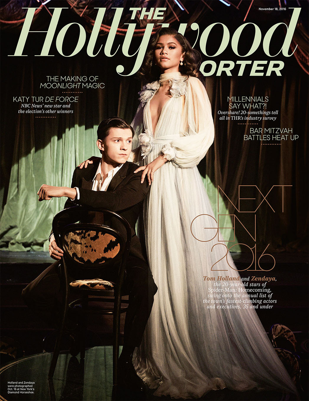 Zendaya and Tom Holland Cover THE HOLLYWOOD REPORTER's Next Gen Issue